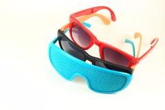 Kolorowi okulary przeciwsłoneczne Obrazy Stock