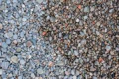 Kolorowi otoczaki na plaży Zdjęcie Stock