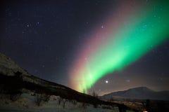 Kolorowi północni światła w Norwegia Obraz Royalty Free