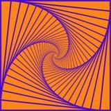 Kolorowi płodozmienni geometryczni błękitów kwadraty Geometryczny abstrakcjonistyczny okulistyczny złudzenie na żółtym tle eps10  royalty ilustracja