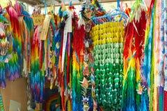Kolorowi papierowi żurawie w Hiroszima, Japonia zdjęcia stock