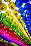 Kolorowi papierowi lampiony - Bongunsa świątynia obrazy royalty free
