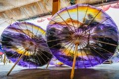 Kolorowi parasole w Tajlandia Zdjęcie Royalty Free