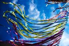 Kolorowi paski przy festiwalem obrazy stock