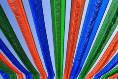 Kolorowi paski Wiesza Above Obraz Royalty Free