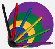 Kolorowi pióra Zdjęcia Royalty Free