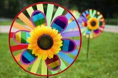 Kolorowi pinwheels Fotografia Royalty Free