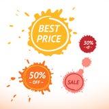 kolorowi pluśnięcia Best Prise, sprzedaż, 50% Z Marcs Zdjęcia Royalty Free