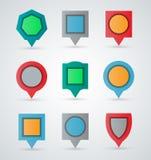 Kolorowi pointery i locators royalty ilustracja