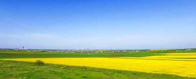 Kolorowi pola w wiośnie Zdjęcie Royalty Free