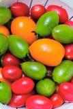 kolorowi pomidory Zdjęcia Royalty Free