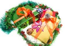 Kolorowi prezentów pudełka Piękni Odosobniony biały tło Obrazy Stock