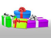 Kolorowi prezentów pudełka Obraz Royalty Free