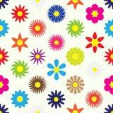 Kolorowi prości retro mali kwiaty ustawiają bezszwowego wzór eps10 Zdjęcie Stock