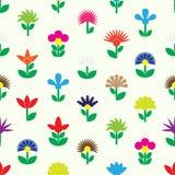 Kolorowi prości retro mali kwiaty ustawiają ikona bezszwowy wzór eps10 Obrazy Royalty Free