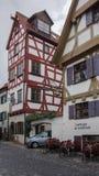 Kolorowi przyrodni szalunków domy na romantycznym ulicznym Germany zdjęcia royalty free
