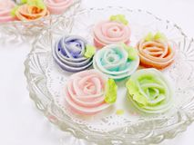 Kolorowi róż ciastka obraz stock