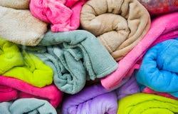 kolorowi ręczniki fotografia royalty free
