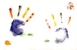 Kolorowi ręka druki Zdjęcie Royalty Free