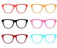 Kolorowi ramowi Okulary przeciwsłoneczne odizolowywali Zdjęcie Stock