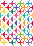 Kolorowi samoloty Obrazy Royalty Free