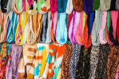 kolorowi scarves Zdjęcie Stock