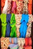 Kolorowi scarves Zdjęcia Royalty Free