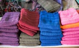 Kolorowi scarves Zdjęcie Royalty Free