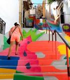 Kolorowi schodki dla iść up zdjęcie stock