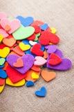 Kolorowi serca obrazy royalty free