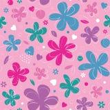 Kolorowi serca i kwiatu tło Zdjęcia Royalty Free
