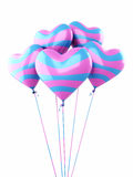 Kolorowi serce balony Obrazy Royalty Free