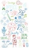 Kolorowi sieci doodles ustawiający Zdjęcie Royalty Free