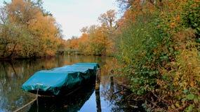 Kolorowi Spada liście I bomblowanie rzeka zdjęcie royalty free