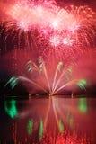 Kolorowi spektakularni fajerwerki Fotografia Royalty Free
