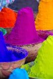 Kolorowi stosy sproszkowani barwidła zdjęcie royalty free