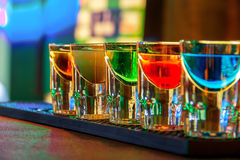 Kolorowi strzałów napoje Obraz Stock