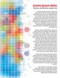 kolorowi sześciokąty Obrazy Royalty Free