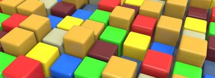 Kolorowi sześciany Ilustracji
