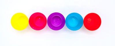 Kolorowi szkła lub filiżanka dla dzieci Zdjęcia Royalty Free