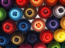 Kolorowi szkolni markiery blisko Obraz Stock