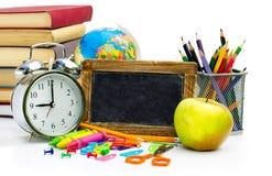 Kolorowi szkolni notatniki i dostawy Zdjęcie Stock