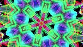 Kolorowi tęcza lampasy przekręcają w kółkowej formacji, ruch w okręgu Bezszwowy kreatywnie tło, zapętlający 3d gładki zbiory