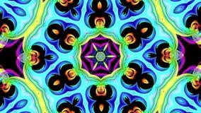 Kolorowi tęcza lampasy przekręcają w kółkowej formacji, ruch w okręgu Bezszwowy kreatywnie tło, zapętlający 3d gładki zbiory wideo