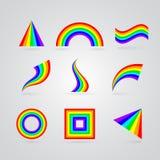 Kolorowi tęcza symbole dla twój projekta royalty ilustracja