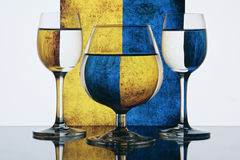 kolorowi tło szkła Fotografia Stock