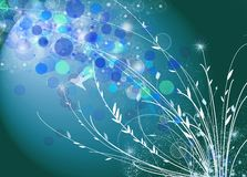 kolorowi tło kwiaty Obrazy Royalty Free