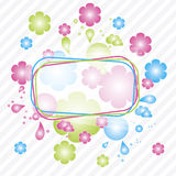 kolorowi tło kwiaty Obrazy Stock