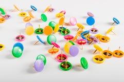 Kolorowi thumbtacks Obraz Stock