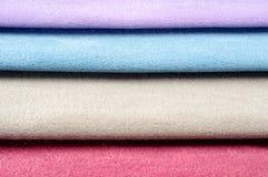 Kolorowi tkanin swatches Obrazy Stock